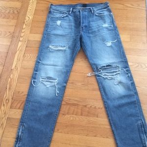 &denim Original Straight Fit Ripped Jeans